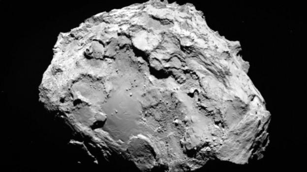 Der Komet Tschurjumov/Gerasimenko.