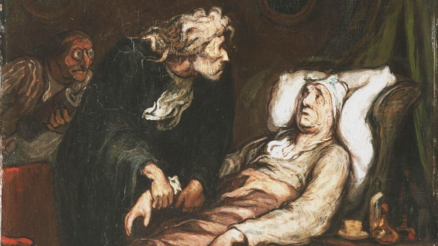 Gemälde von Honoré Daumier: Der eingebildete Kranke