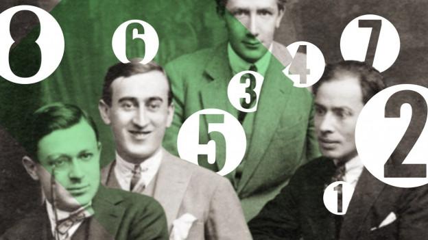 Dada-Foto mit Zahlen darüber.