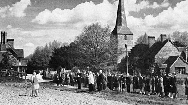 Bittprozession in Hever in der Grafschaft Kent (1967).