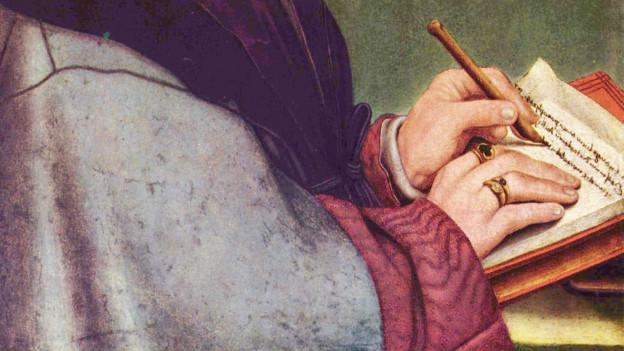 Hände beim Schreiben
