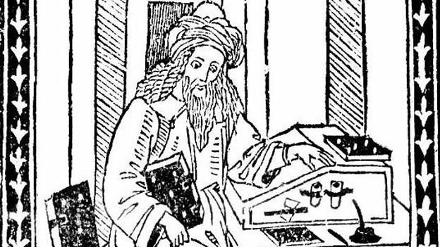 Nostradamus, gezeichnet von Antonio Ruggiero (1568).