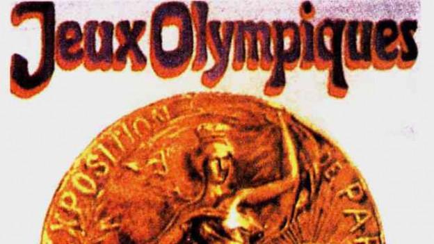 Ein Bild des Plakats der Olympischen Sommerspiele 1900.