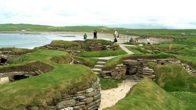 Ein Bild des Dorfes Skara Brae.
