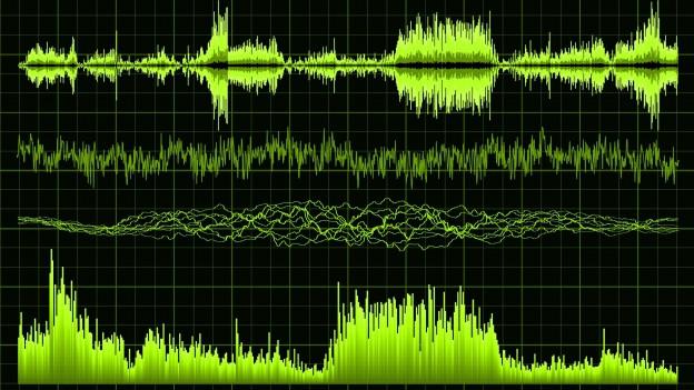 Visualisierung von Schall.