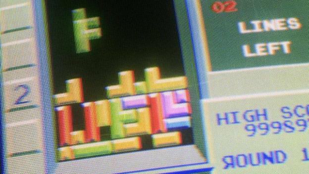 Ein Bild vom Spiel Tetris.