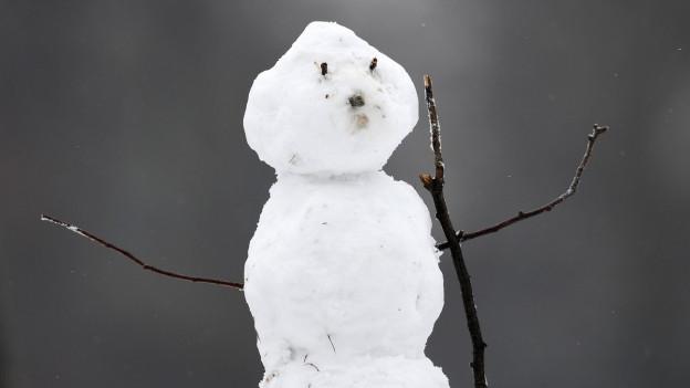 Ein Schneemann.
