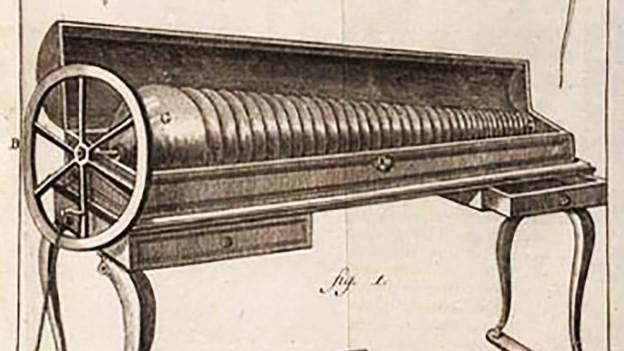 Zeichnung eines Instruments.