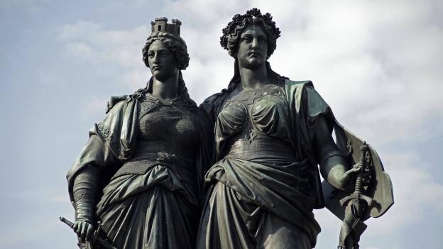Das Monument National mit Geneva und Helvetia in Genf