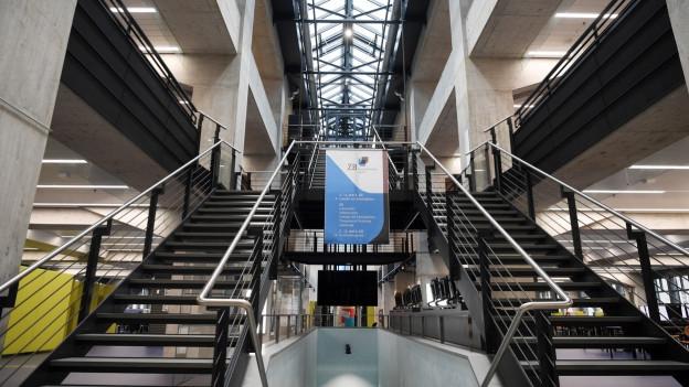 Der Eingangsbereich des Neubaus der Zürcher Zentralbibliothek.