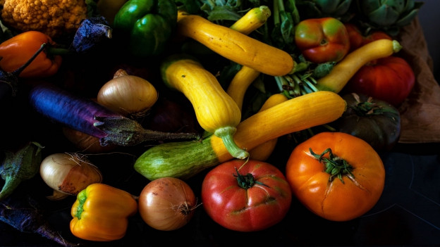Tomaten, Zucchetti, Auberginen.