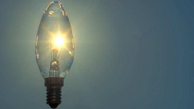 Eine Glühbirne