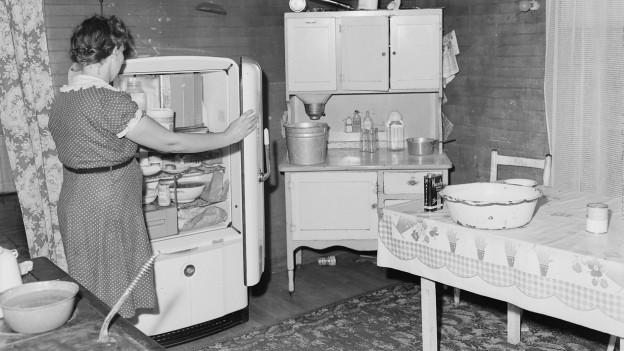 Ein Kühlschrank aus dem Jahr 1946.