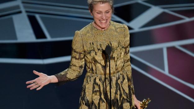 Foto von Frances Mc Dormand an der Oscar Nacht.