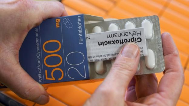 Im Bild: Antibiotikums Ciprofloxacin.