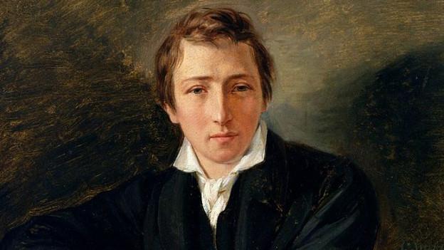 Heinrich Heine in einem eleganten Anzug.