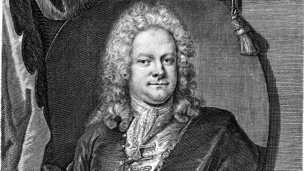 Johann Mattheson im Kupferstich von Christian Fritzsch