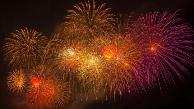 Ein nächtliches Feuerwerk