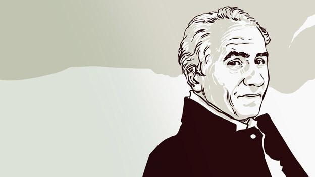 Der Autor James Gordon Farrell in einer Porträtzeichnung des Künstlers Falk Nordmann.