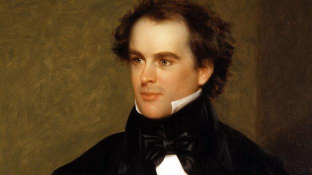 Ölgemälde - Porträt von Nathaniel Hawthorne.