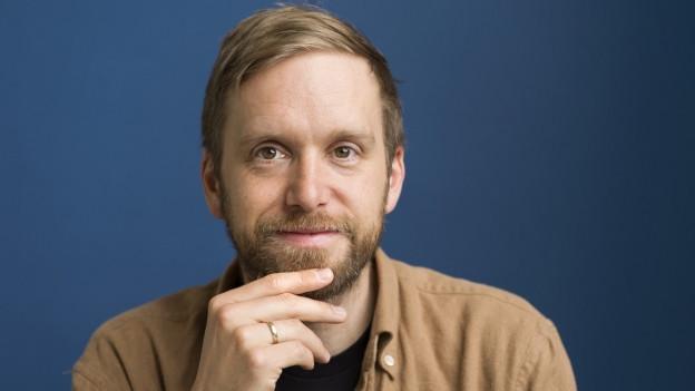 Porträt von Schrifsteller Heinz Helle