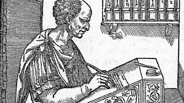 Cicero auf einem Holzschnitt, 1547.