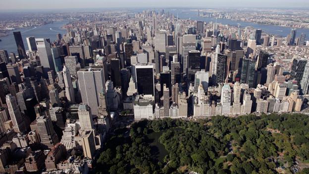 Blick auf den Central Park und Midtown in New York.