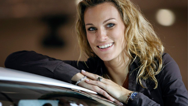 Die Schweiter Autorennfahrerin, Fernsehmoderatorin und Model Christina Surer.