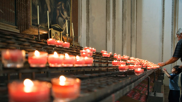 Im Salzburger Dom, Österreich.