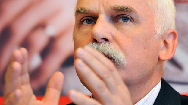 Hugo Fasel, Direktor der Caritas Schweiz und ehemaliger Nationalrat der Christlich-sozialen Partei.
