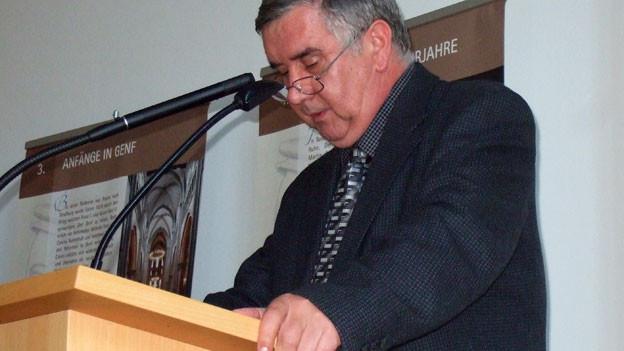 Der reformierte Bischof Ungarns Gustav Bölcske an der Hauptversammlung des Reformierten Bundes in Frankfurt 2009.