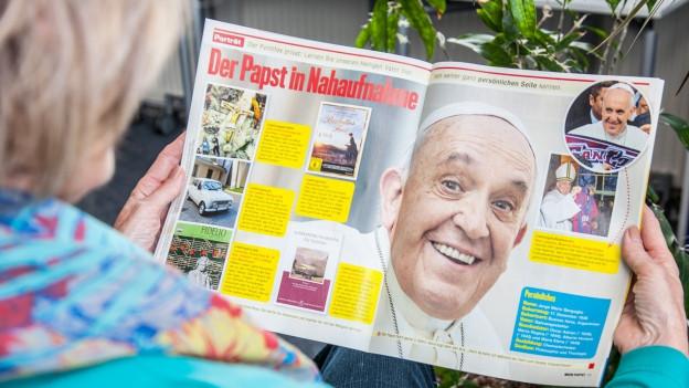 Papst auf Hochglanzpapier, im neuen Heftli «Mein Papst».