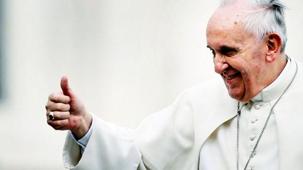 Papst Franziskus während einer Audienz.