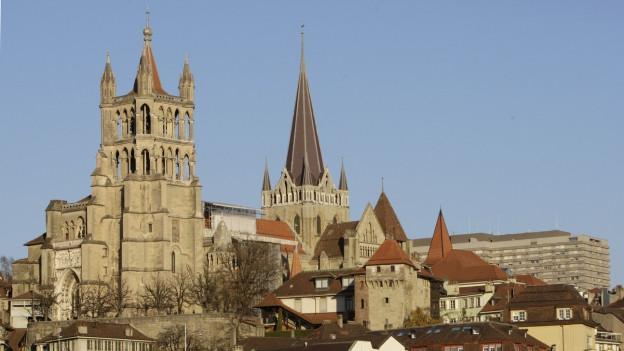 Die Kathedrale in Lausanne.