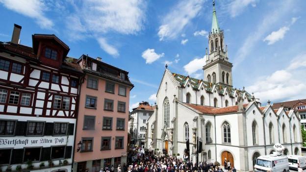 Die reformierte St. Laurenzen Kirche in St. Gallen