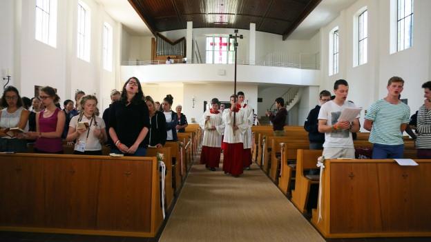 Symbolbild: Ein Sonntagsgottesdienst in Deutschland