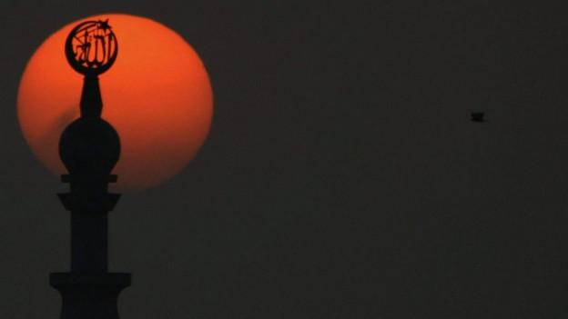 Minartett mit Sonnenuntergang
