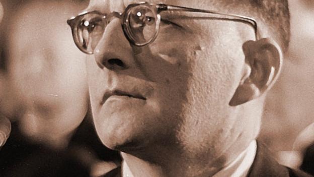 Ein Portrait von Dimitri Schostakowitsch.