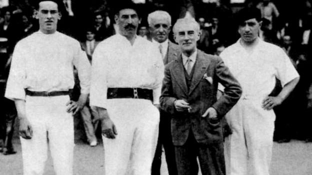 Maurice Ravel und Pelota-Spieler