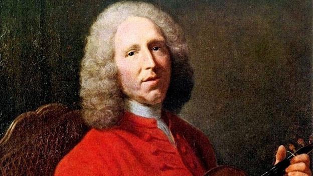 Jean Philippe Rameau trägt ein rotes Gewand.
