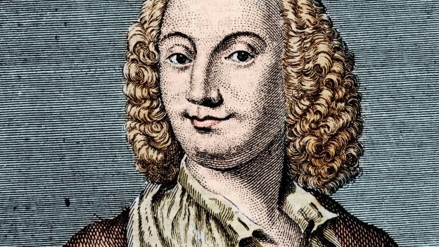 Die Zeichnung eines Mannes mit langen Locken.