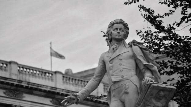 Skulptur von Mozart.