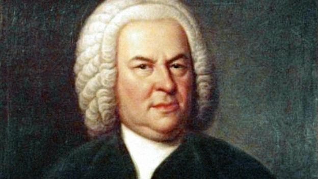 Ein Gemälde von Johann Sebastian Bach.