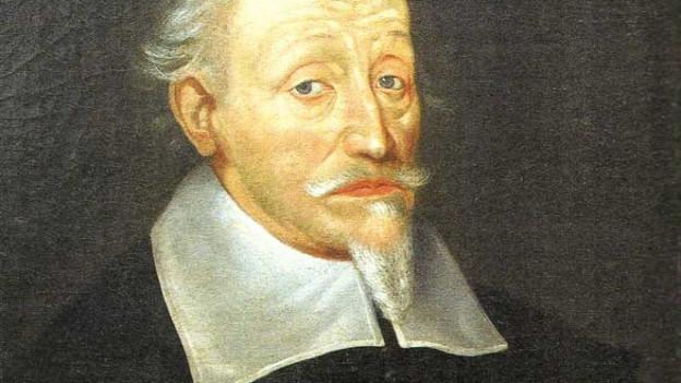 Gemälde: ein Porträt von Heinrich Schütz.