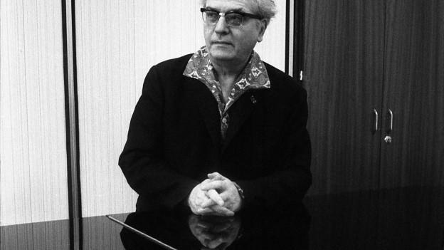 Porträt des Komponisten Olivier Messiaen.