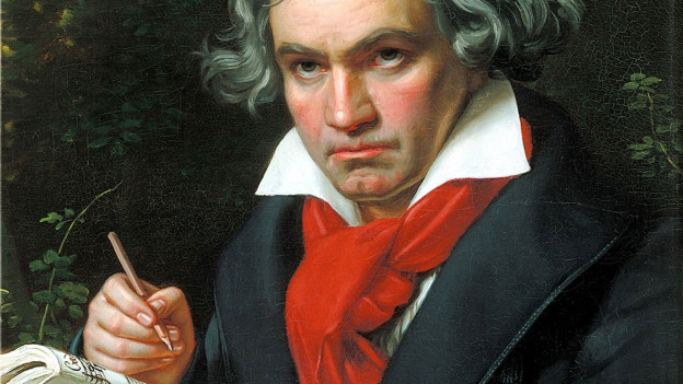 Porträt von Ludwig van Beethoven.
