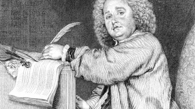 Porträt des Komponisten Jean-Féry Rebel.