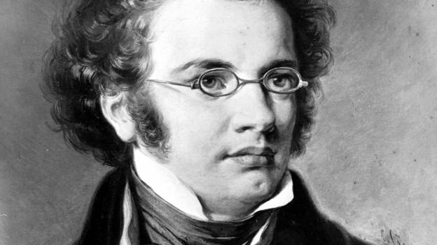 Porträt von Franz Schubert.
