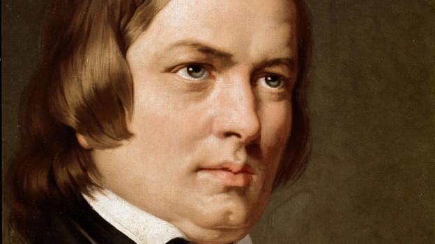 Gemälde mit dem Porträt von Robert Schuhmann.