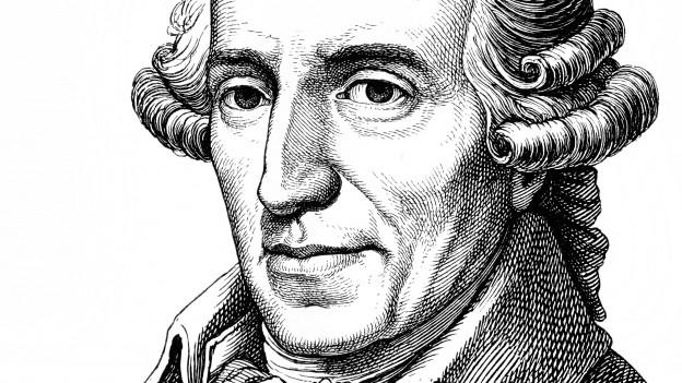 Historische Zeichnung von Joseph Haydn.
